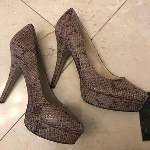 Snakeskin Enzo Angiolini heels